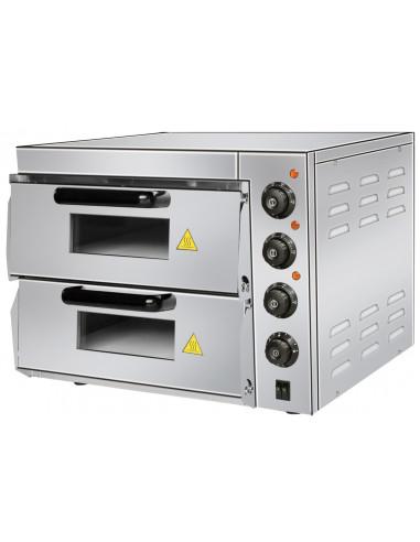 Horno Eléctrico para 2 Pizzas Compacto de 560x570x440h mm para 2 Pizzas PDK40 - 1