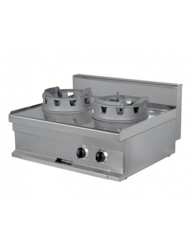 Cocina Wok a Gas de 400x700x290 (AxFxH) mm WR721S ARISCO - 1