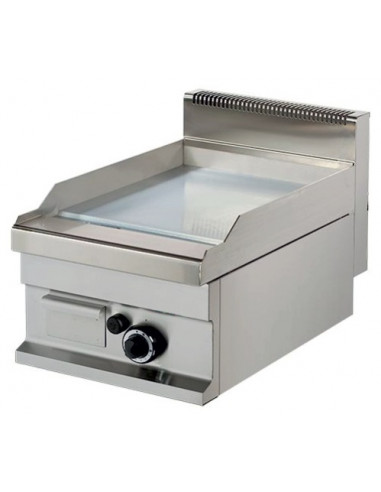 Fry tops a gas sobremesa Placa Acero rectificado 15 mm 6,0kw 400x700x290h mm GG711SR ARISCO - 1