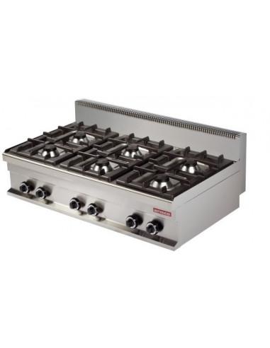 Cocina a gas sobremesa 6 fuegos 6x6kw 1200x700x290h mm GR731S ARISCO - 1