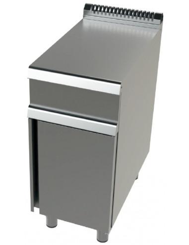 Mueble Neutro de Acero inoxidable Serie 700 de 400x730x900 h mm JUNEX BA7N400 - 1