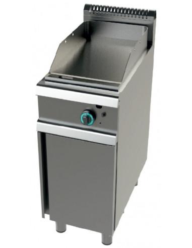 Fry tops a gas acero laminado placa lisa con mueble Serie 700 JUNEX con medidas 400x730x900h mm FT7N00L - 1