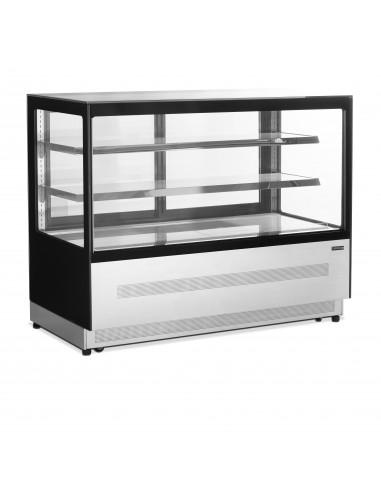 Vitrina Mostrador Refrigerada Ventilada Cristal Recto con 3 estantes 480 Litros LPD1500F-P-BLACK - 1