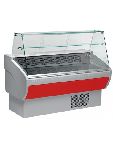 Vitrina Refrigerada Expositora Fondo 800 Largo 1530 mm Roja VPL150-R - 1