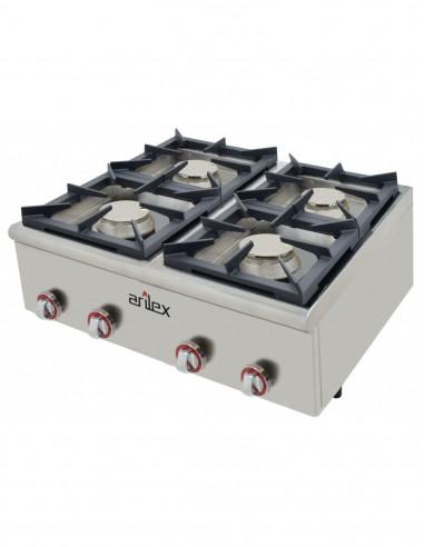 Cocina a gas serie BASIC fondo 75 cm de 4 fuegos con potencia 4x6 Kw 80CG75BASIC - 2