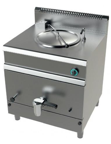 Marmita a gas 50 litros calentamiento indirecto 15,5Kw Serie 700 JUNEX con medidas 800x730x900h mm MG7N050 - 2