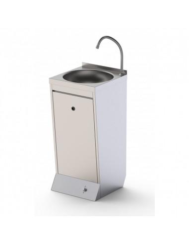 Lavamanos de Pie en Acero Inoxidable Con Pulsador 400x400x850h mm - 1
