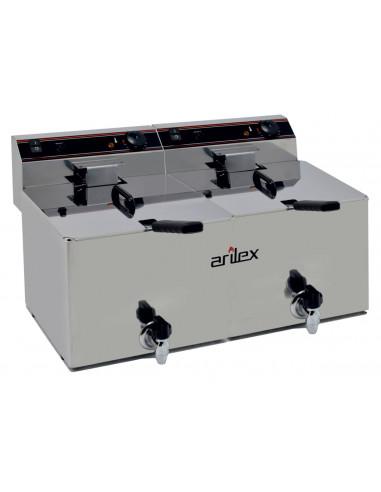 Freidora Eléctrica CON grifo de vaciado de 10+10Litros EVO1010G - 1