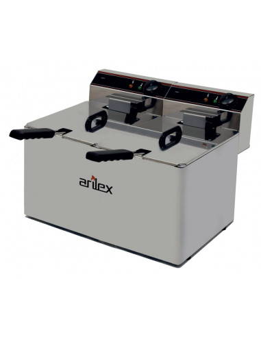 Freidora Eléctrica Doble SIN Grifo de Vaciado 10+10 Litros EVO1010 - 1