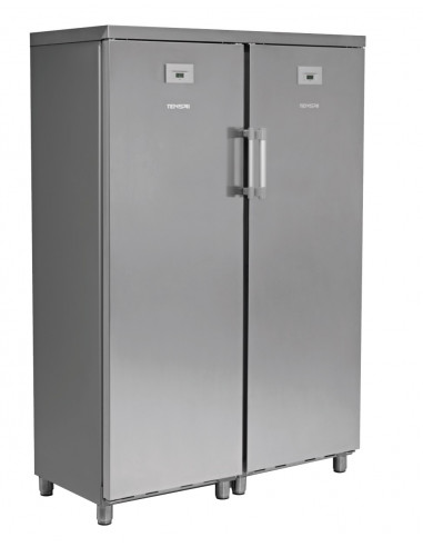 Armario Snack de Refrigerados y Congelados 700 litros 2 Puertas Inoxidable de 1250 x650 x1770h mm KITCF350PROSS - 1