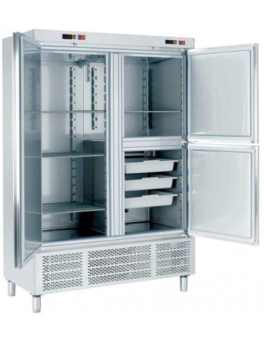 Armario Snack Refrigerado con Departamento de Pescado 2 medias puertas 1400x720x2100h mm ARCH-1203-DP - 1