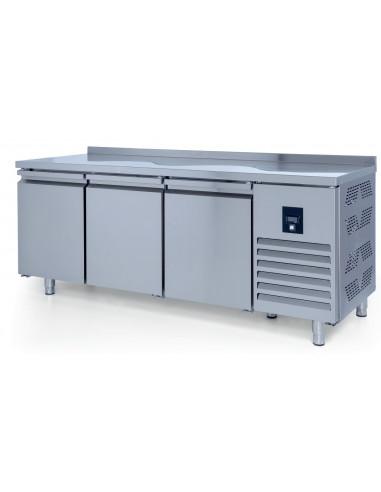 Mesa Snack Refrigerada 3 puertas fondo 600 2000x600x850 mm CTS400CR - 1