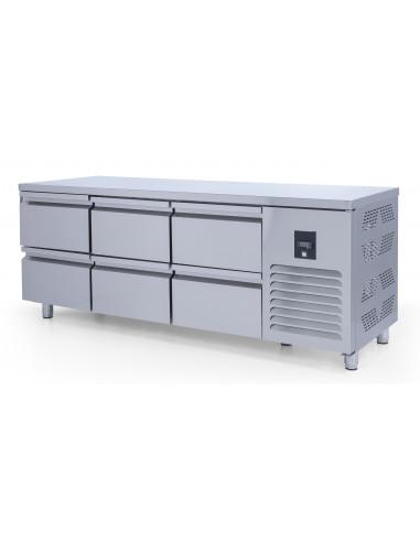 Mesa Refrigerada GN1/1 con cajones fondo 700 2000x700x850 mm CTS515CR-2D-6 - 1
