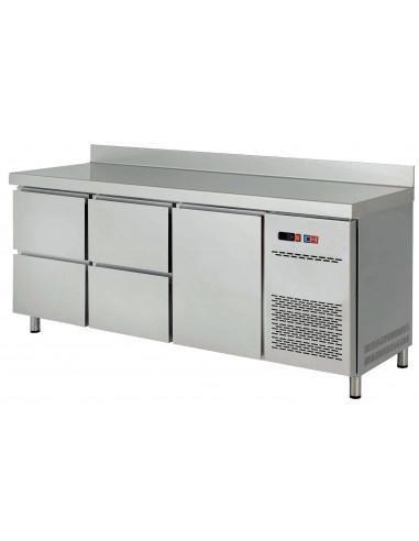 Mesa Snack Refrigerada con Cajones Fondo 600 MRCH-200-4 - 1