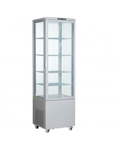Armario Expositor Refrigerado 4 caras de Cristal Blanco 238 litros XC238L-B - 1