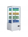 Expositor Refrigerado 4 caras cristal Sobremesa Blanco de 78 litros XC78L-B - 1