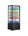 Expositor Refrigerado 4 caras cristal Sobremesa Negro de 98 litros XC98L-N - 1