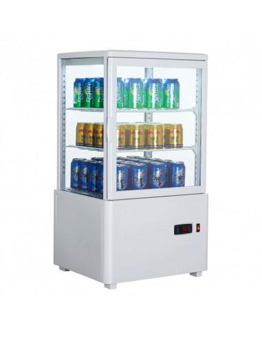Expositor Refrigerado 4 caras cristal Sobremesa Blanco de 58 litros XC58L-B - 1