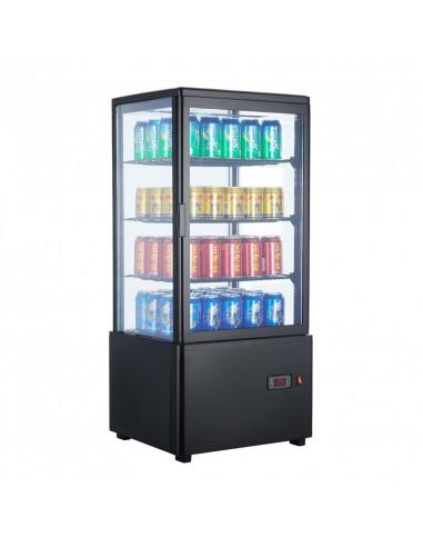 Expositor Refrigerado 4 caras cristal Sobremesa Negro de 78 litros XC78L-N - 1