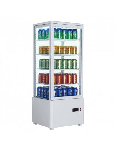 Expositor Refrigerado 4 caras cristal Sobremesa Blanco de 98 litros XC98L-B - 1