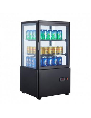 Expositor Refrigerado 4 caras cristal Sobremesa Negro de 58 litros XC58L-N - 1