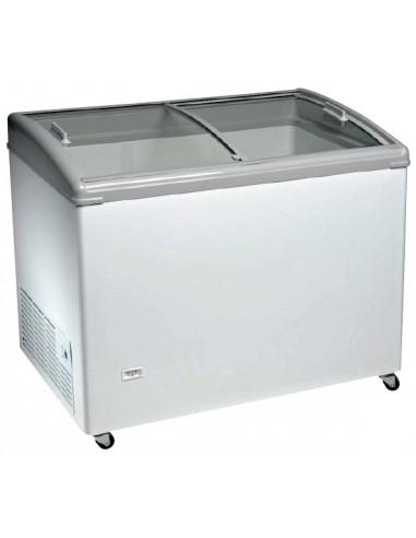 Congelador Horizontal Puerta Vidrio Curvo Corredera de 1283 x670 x900h mm TCHC400N - 1