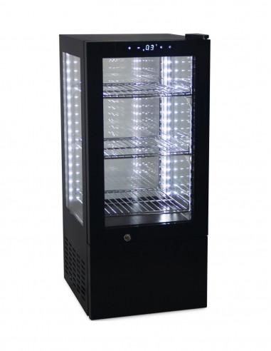Vitrina Expositora Refrigerada 4 caras cristal de 65 litros G-65 - 1