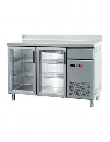 Frente Mostrador Refrigerado con Puertas de Vidrio 2 puertas de 1492x600x1050h mm FMCH-150V - 1