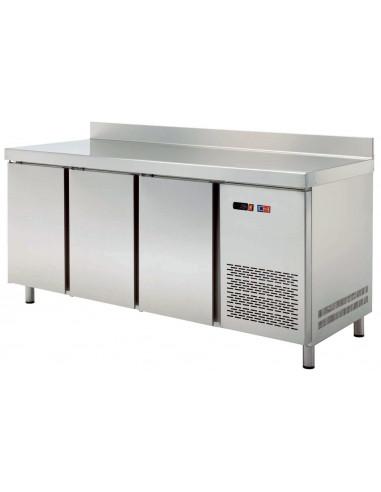 Mesa Snack Refrigerada 4 puertas Fondo 600 de 2542x600x850h mm MRCH-250 - 1