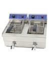 Freidora Eléctrica Doble 10 + 10 litros CON Grifo de 570x460x325h mm IEF-102-EGO - 1