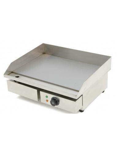 Plancha Eléctrica Hostelería Acero Rectificado 10 mm Económica de 550 x450 x240h mm IEG-818 - 1