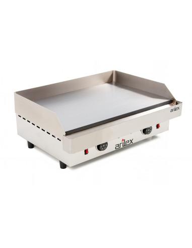 Plancha asar eléctrica Industrial en acero rectificado de 15 mm con medidas 610x457x240h mm 60PER - 1
