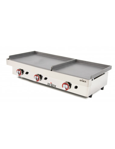 Plancha a gas Profesional serie DUO (60 laminado + 40 laminado) con medidas 1010x457x265h mm 6040PGLL - 2