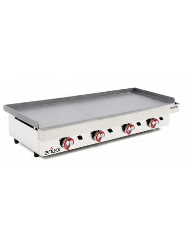 Plancha a gas Profesional en acero laminado de 6 mm con medidas 1210x457x240h mm 120PGL - 1
