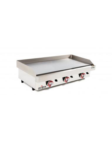 Plancha a gas de asar Industrial en acero rectificado de 15 mm con medidas 810x457x240h mm 80PGR - 1