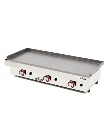 Plancha a gas Profesional en acero laminado de 6 mm con medidas 1010x457x240h mm 100PGL - 1