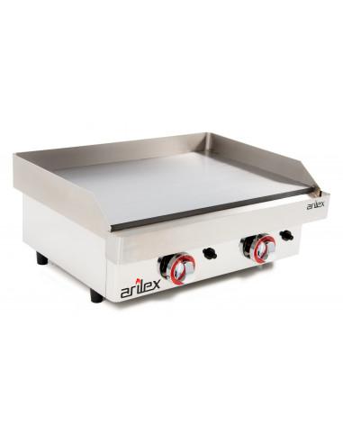 Plancha a gas de asar Industrial en acero rectificado de 15 mm con medidas 610x457x240h mm 60PGR - 1