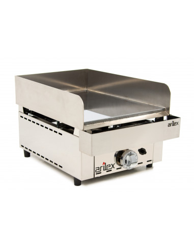 Frytops a gas de acero rectificado de 15 mm de 335x590x345h mm 35FRYGR - 2