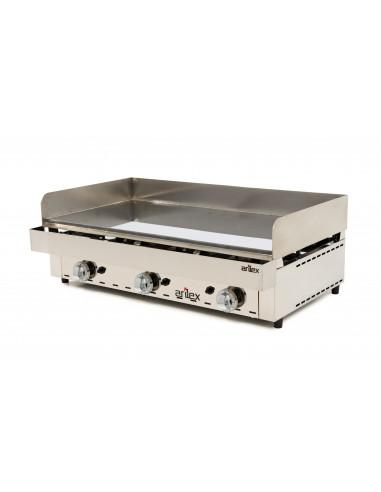 Frytops a gas acero de 15 mm con baño de cromo duro con medidas 1005x590x345h mm 100FRYGC - 1
