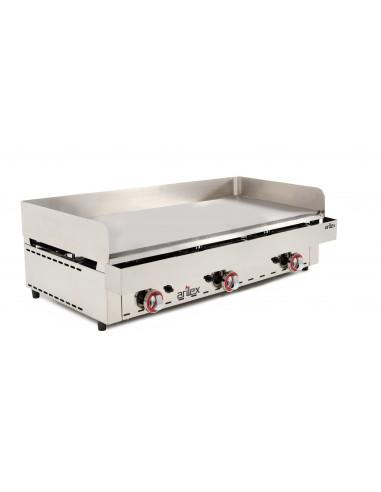Frytops a gas acero rectificado de 15 mm con medidas 1005x590x345h mm 100FRYGR - 2