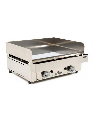 Frytops a gas acero rectificado de 15 mm con medidas 670x590x345h mm 70FRYGR - 2