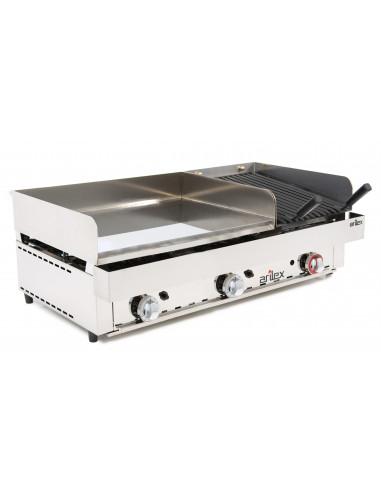 Frytops a gas de 67cm acero cromo duro + Barbacoa a gas 35cm con medidas 1005x590x345h mm 100FRYGCB - 3